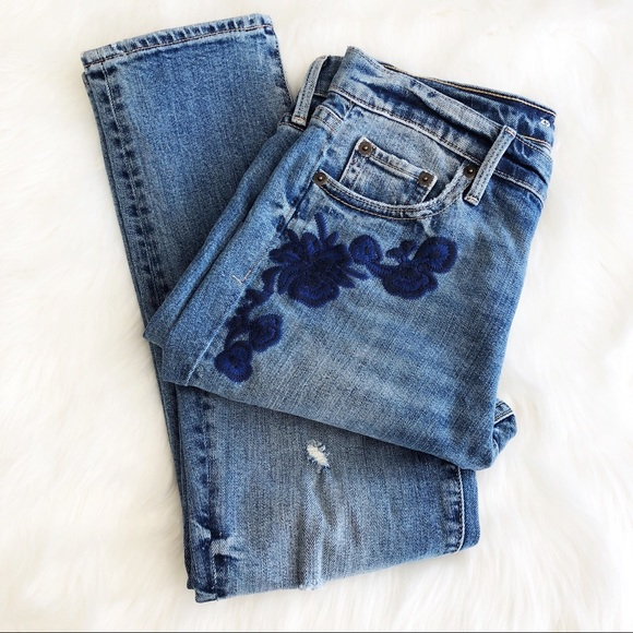 GAP Denim - GAP • Embroidered Crop Denim